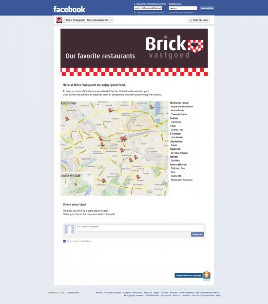 Pagina voor beste restaurants in Eindhoven.