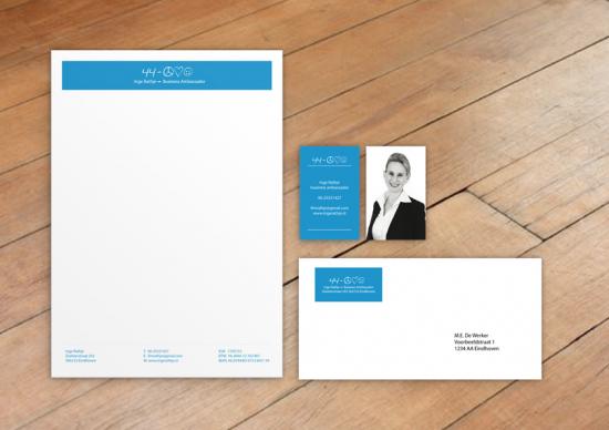 Visitekaartje, briefpapier en adressticker
